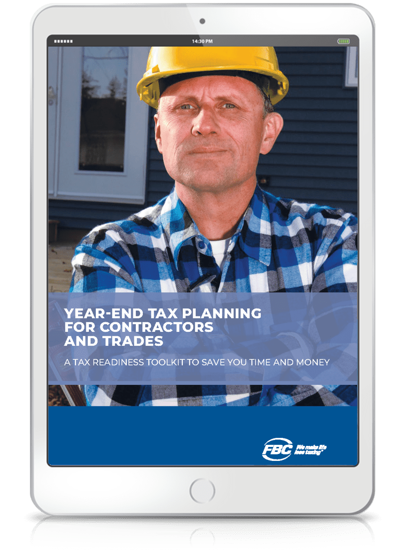Year-End Tax Planning Toolkit Contractors and Trades ipad